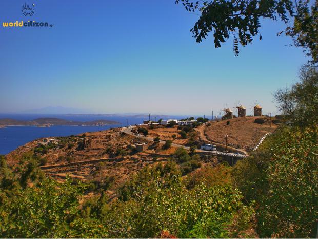 Θέα από τη Χώρα της Πάτμου.