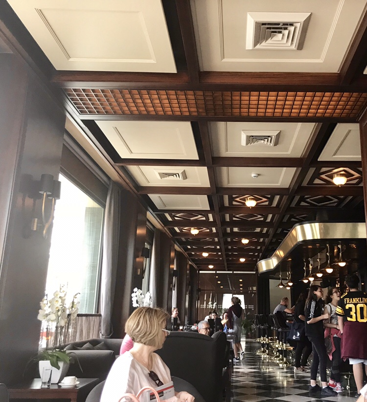 Samaria Hotel cafe at the ground floor.