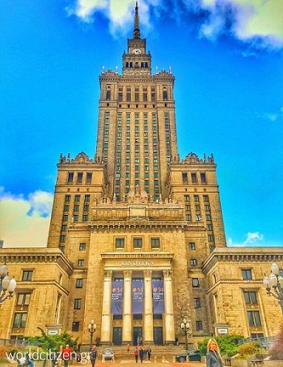 Παλάτι της επιστήμης & του πολιτισμού στη Βαρσοβία, Πολωνία.