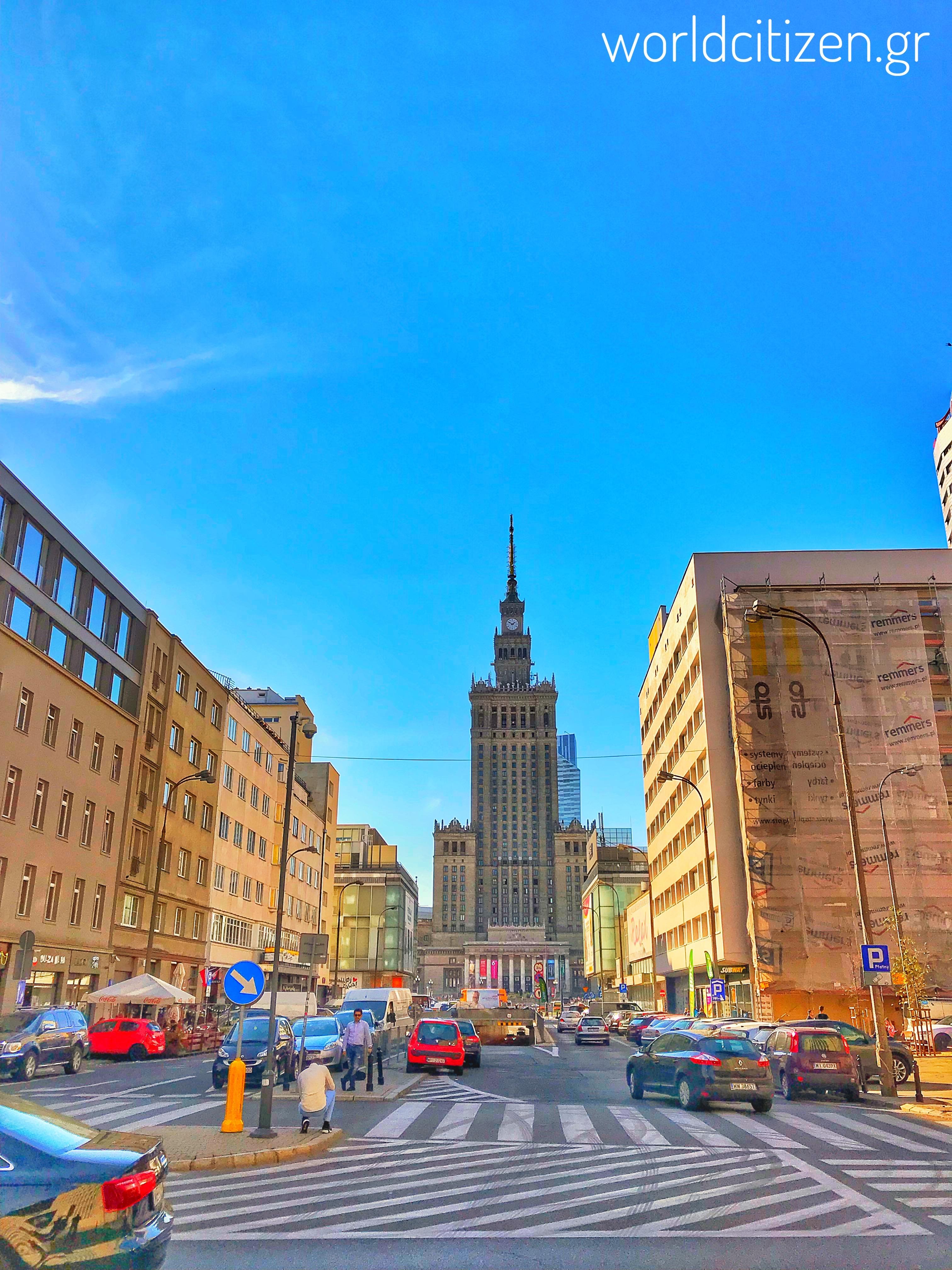 Το παλάτι του πολιτισμού & της επιστήμης στη Βαρσοβία της Πολωνίας 3.