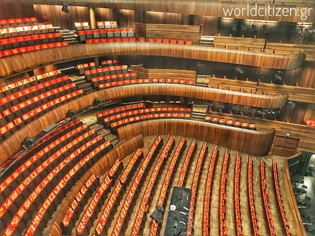Όσλο Opera House, Νορβηγία εσωτερικά του θεάτρου.