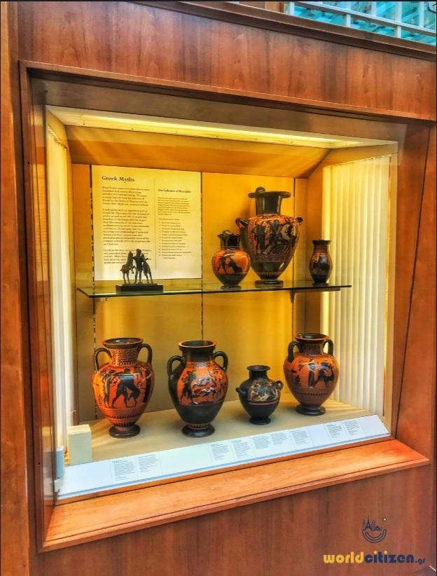 Βρετανικό Μουσείο, Λονδίνο - Εκθέματα από Αρχαία Ελλάδα.