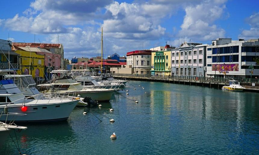 Constitution river, Bridgetown, Barbados islands, Caribbean.
