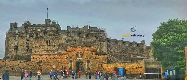 Edinburgh Castle in Scotland ~ Exoterical view.