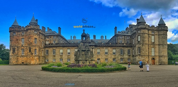 Holyrood Palace at Edinburgh in Scotland ~ Exoteric view.