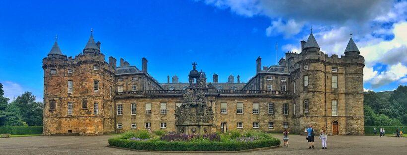 Holyrood Palace at Edinburgh in Scotland.