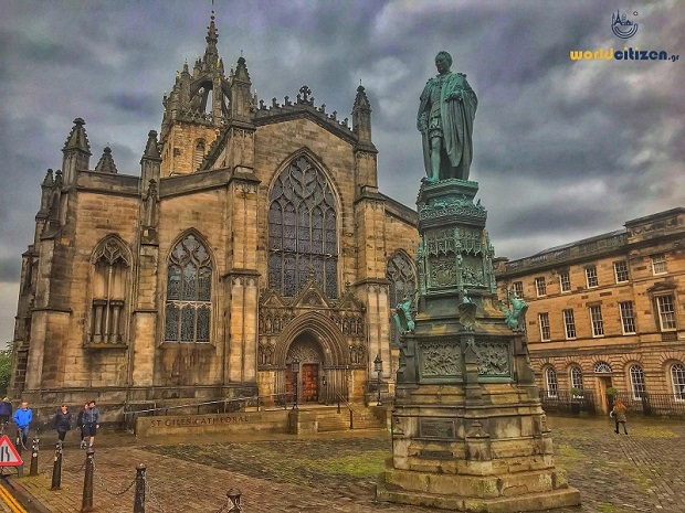 Saint Giles cathedral at Edinbourgh, in Scotland.