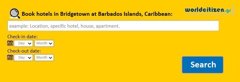 worldcitizen.gr Book hotels at Bridgetown in Barbados Islands, Caribbean.